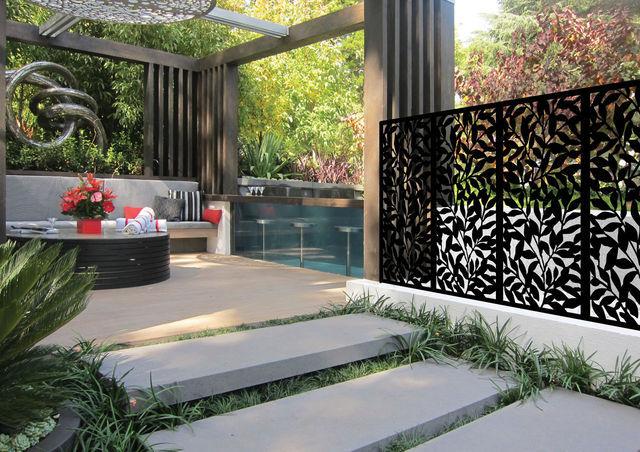 art decor decorative screens wall metal fern screen garden